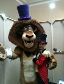 [Image] Heidi Deluca as the Ringmaster, hosting Madagascar with Alex the Lion